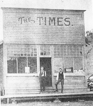 Location of the Times Office in 1900